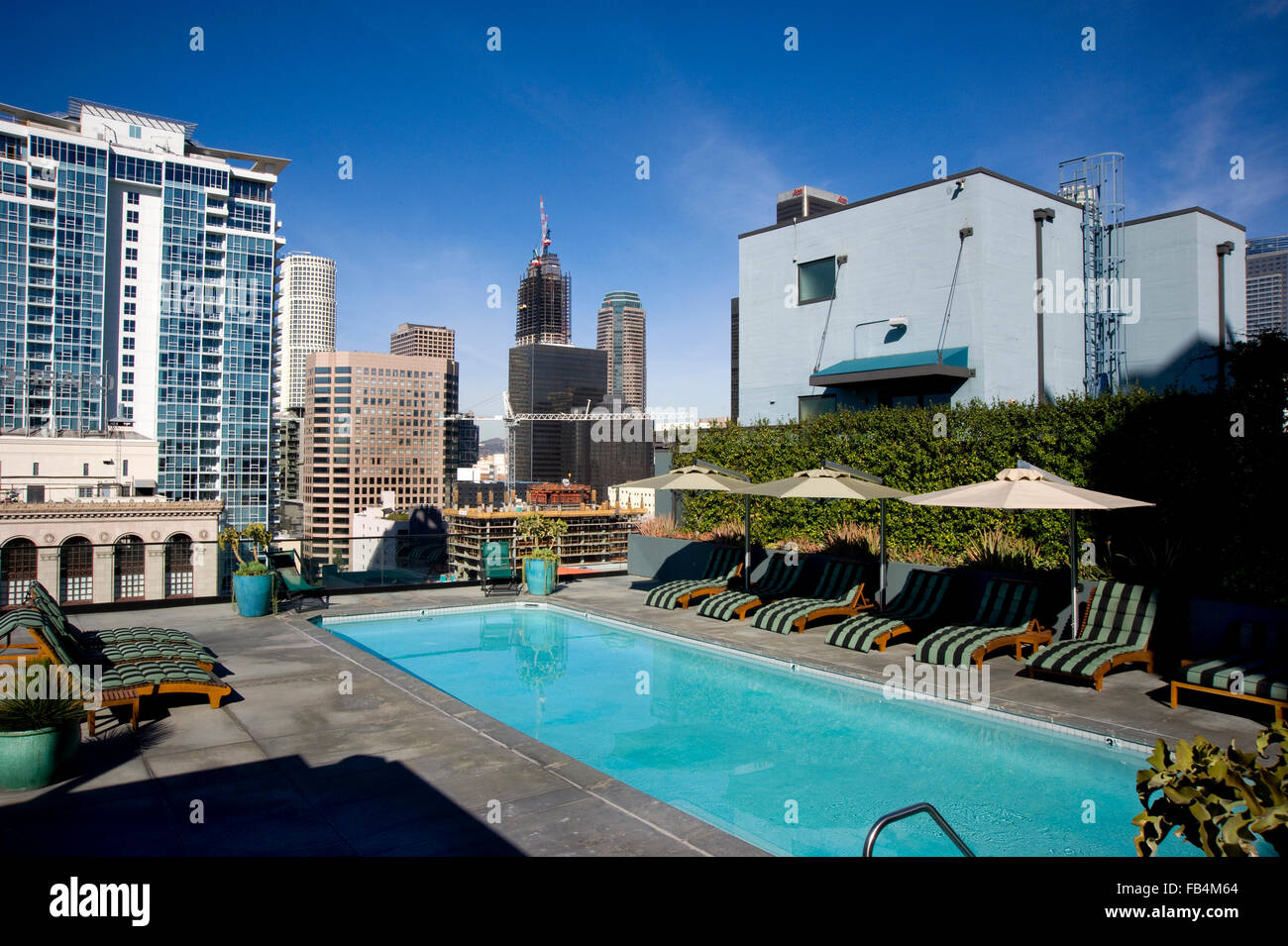 Roof Top Pool Of The Art Deco Eastern Building On Broadway In Downtown Los  Angeles