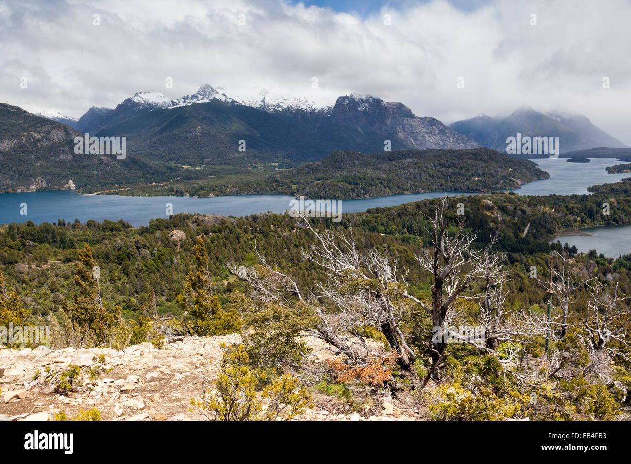 Lake Nahuel Huapi, Parque Nacional Nahuel Huapi National Park, lake region, near Bariloche, Patagonia, Argentina, - Stock Image