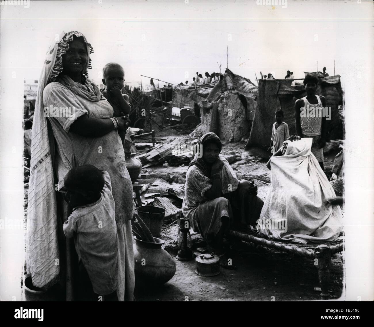 1968 - Eager To L a family in the largest shanty town of Karachi
