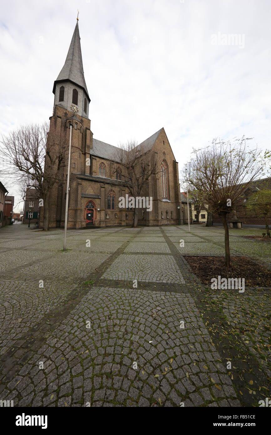 St. Martinus church, Zons, North Rhine Westphalia, Germany - Stock Image