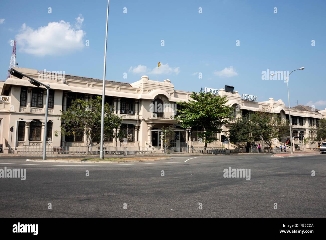 Associated Newspapers of Ceylon Ltd  based at  Lake House on D. R. Wijewardena Mawatha, Colombo, Sri Lanka. - Stock Image