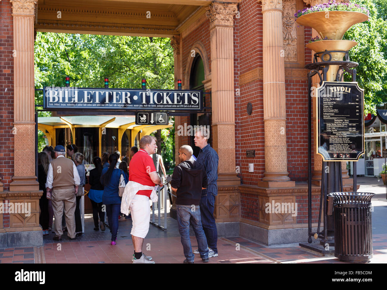 People buying tickets from Ticket Office at entrance gate to Tivoli Stock Photo: 92932608 - Alamy