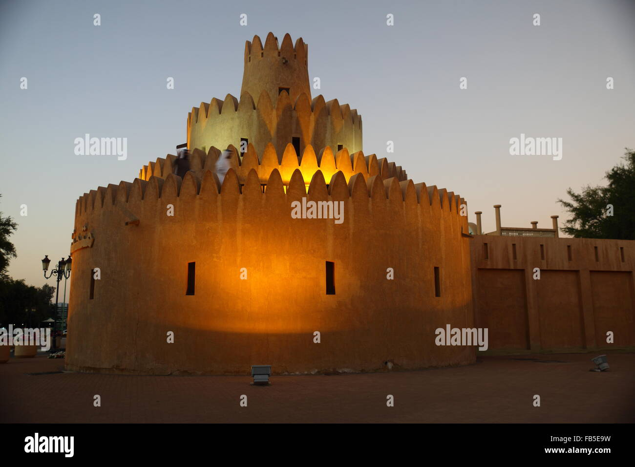 Sheikh Zayed Palace Museum in the city of Al Ain, Unite Arab Emirates - Stock Image