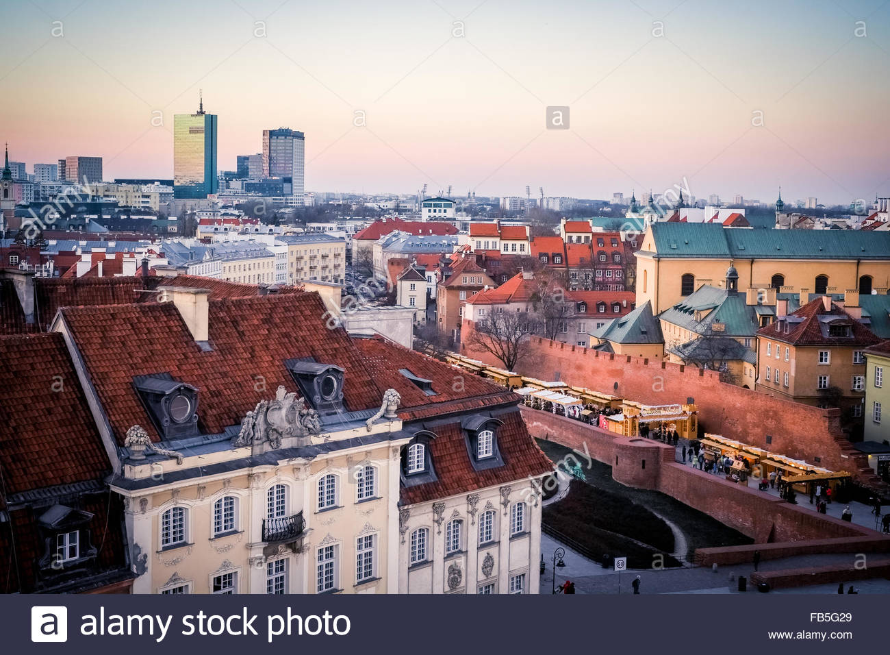 Warsaw Poland city - Stock Image