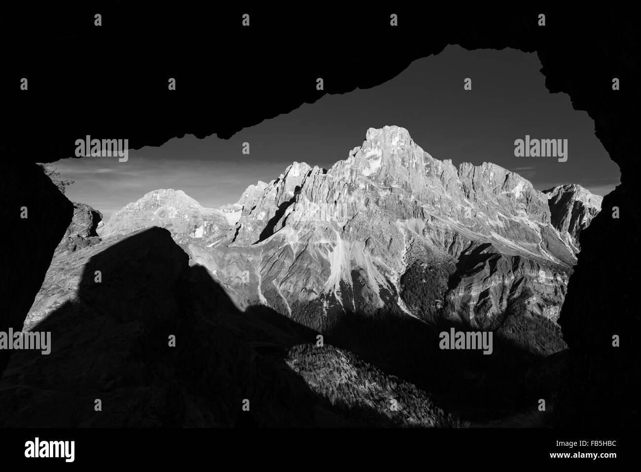 The Dolomites. The Pale di San Martino massif. Stock Photo