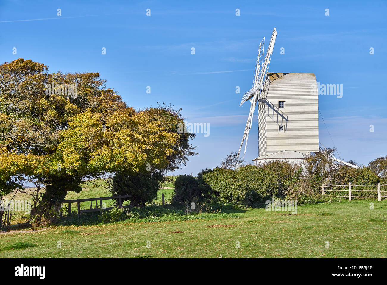 Ashcombe Windmill Kingston sussex - Stock Image