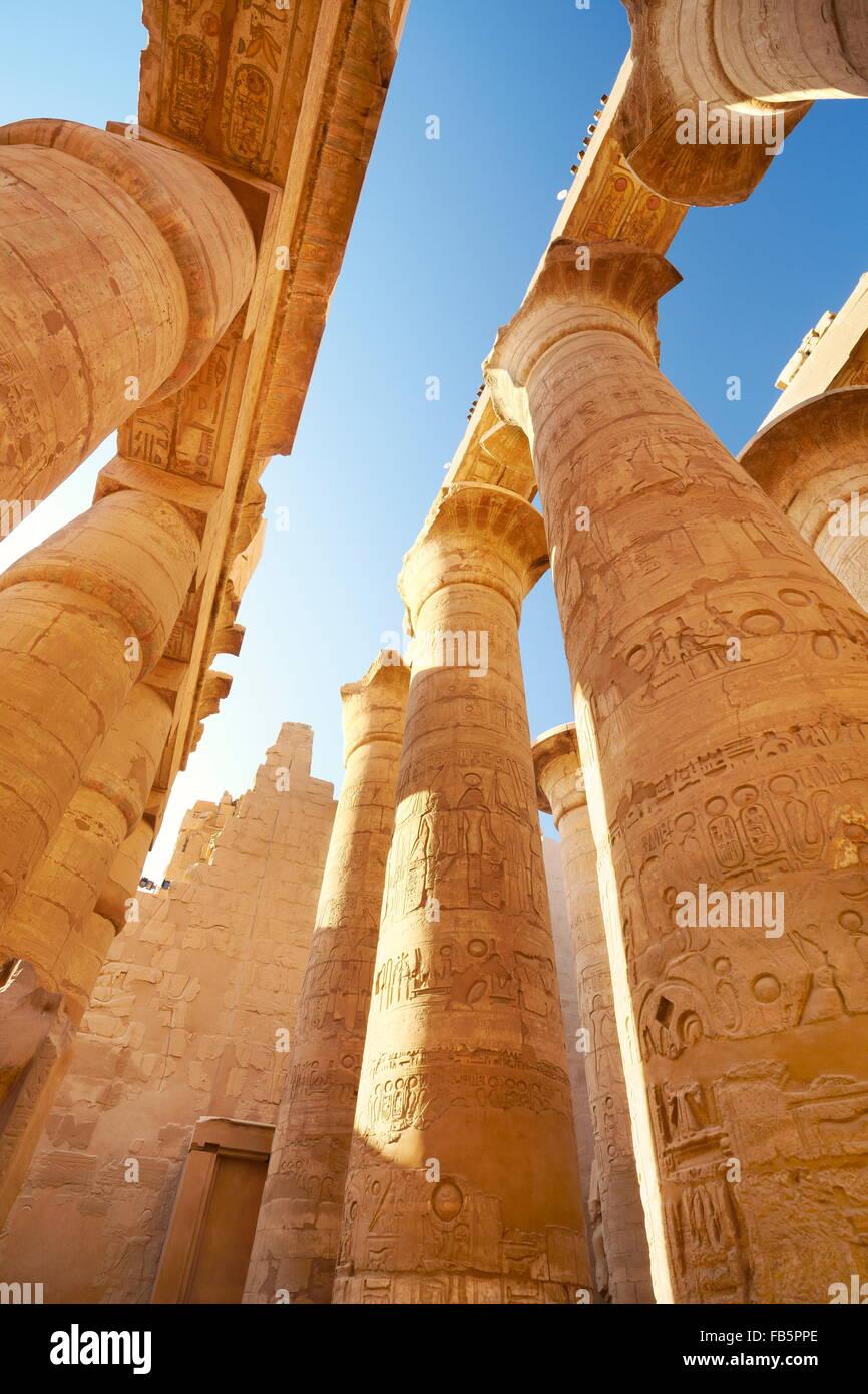 Karnak Temple (Hypostyle Hall), Karnak, Egypt - Stock Image