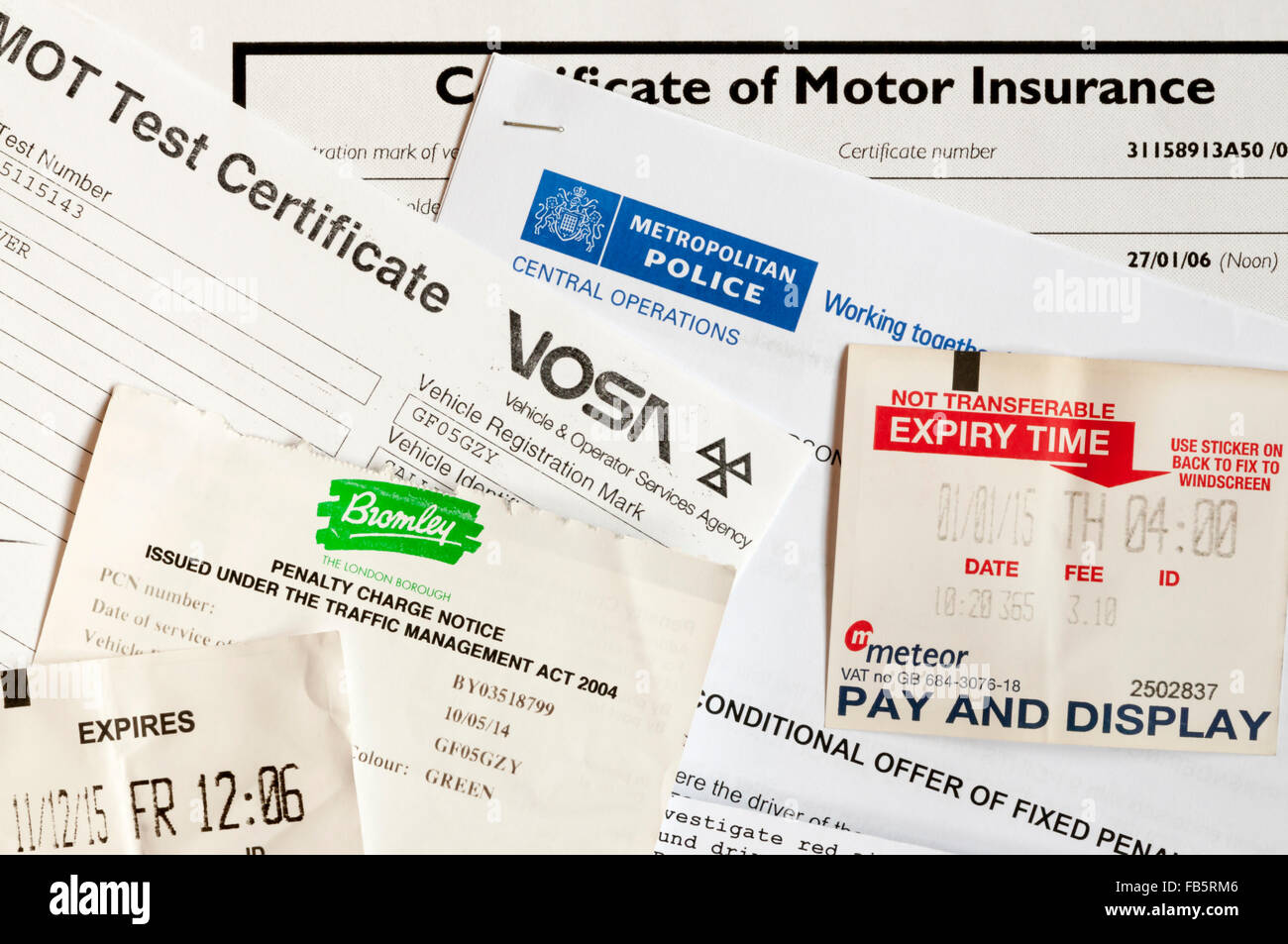 The costs and expenses of motoring, driving and car ownership. - Stock Image