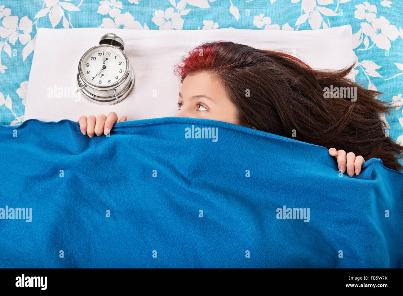 I want to hide from my waking friend today. - Stock Image