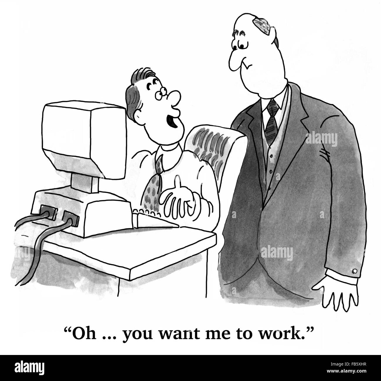 About Productivity business cartoon about productivity. the employee has been