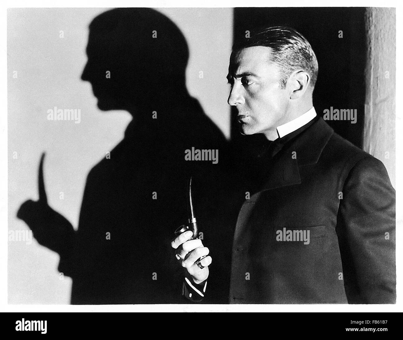 Publicity photograph showing Clive Brook in the role of Sherlock Holmes released to promote 'The Return of Sherlock - Stock Image