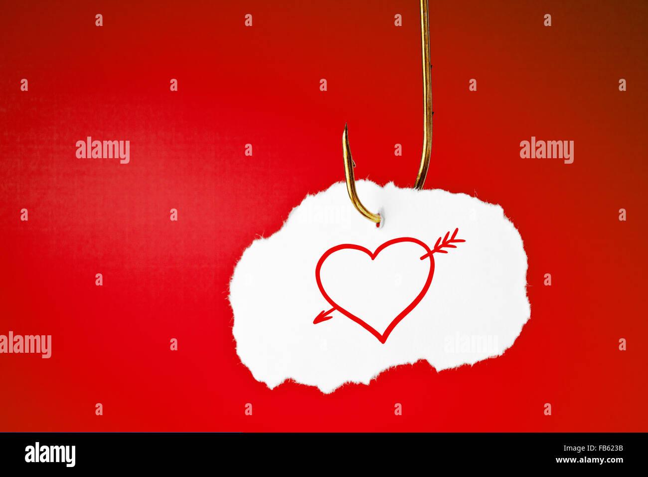 Love Heart Symbol Arrow Through Stock Photos Love Heart Symbol