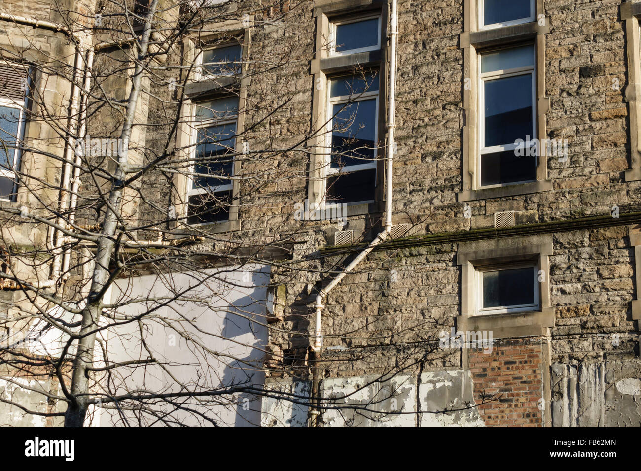 Quartermile, Lauriston, Edinburgh centre - redevelopment of old Royal Infirmary as luxury housing. Work in progress. - Stock Image