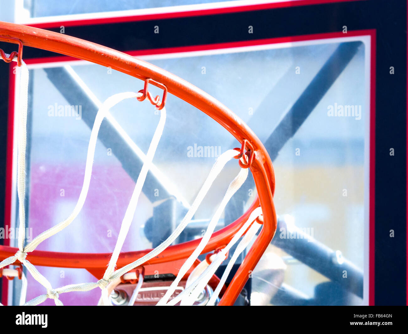 Inside of a basketball. Close up image of a basketball - Stock Image