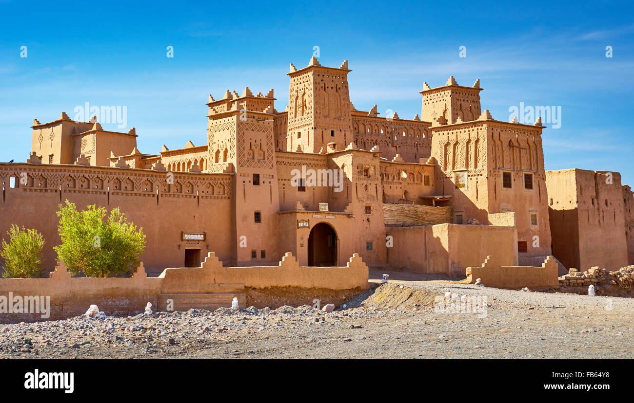 Kasbah Amahidil in Skoura oasis, Ouarzazate district. Morocco Stock Photo