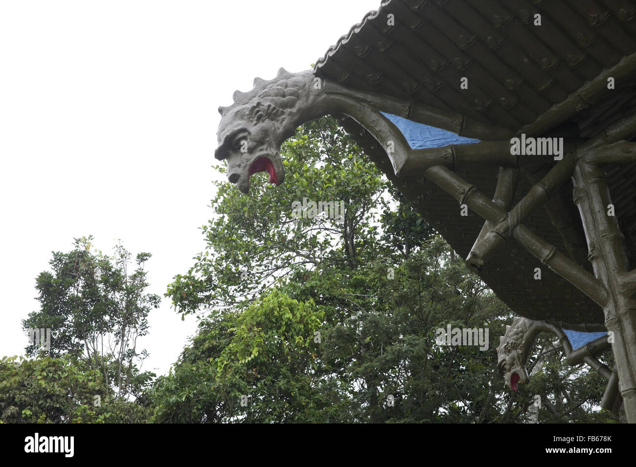 Dragon head at Vista Chinesa, Rio  de Janeiro, Brasil Stock Photo