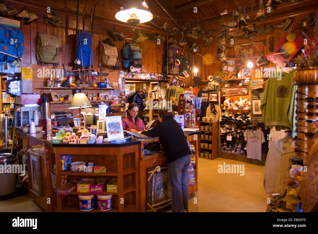 A store along the Appalachian Trail where hikers get their supplies, Neel's Gap, North Georgia, USA - Stock Image