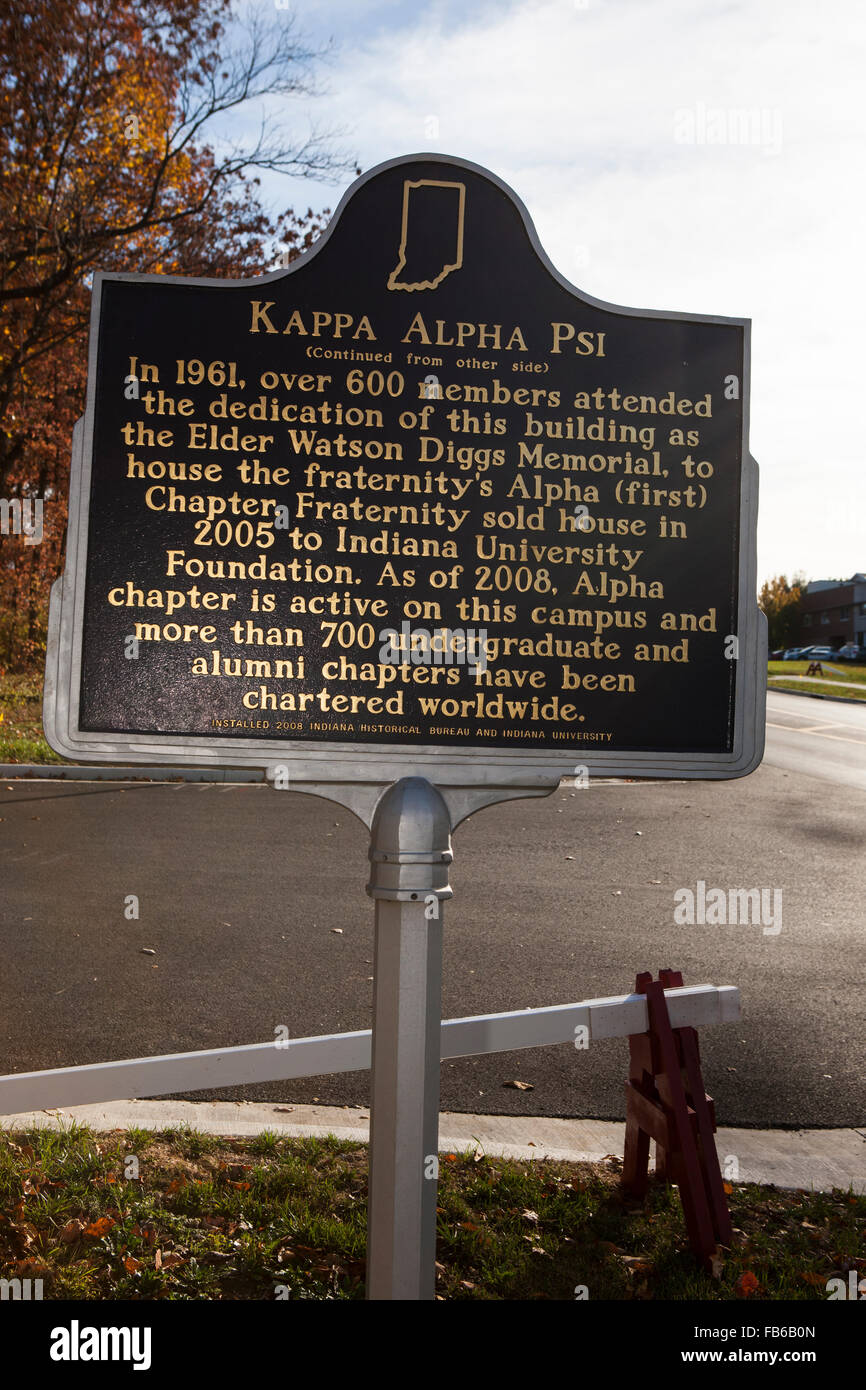 KAPPA ALPHA PSI  (Continued from other side)  In 1961, over 600 members attended the dedication of this building - Stock Image