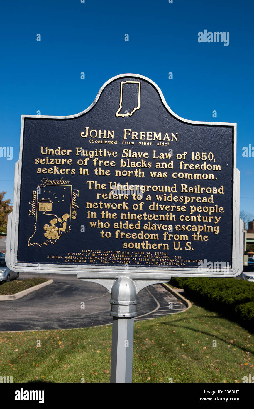JOHN FREEMAN  (Continued from other side)  Under Fugitive Slave Law of 1850, seizure of free blacks and freedom - Stock Image