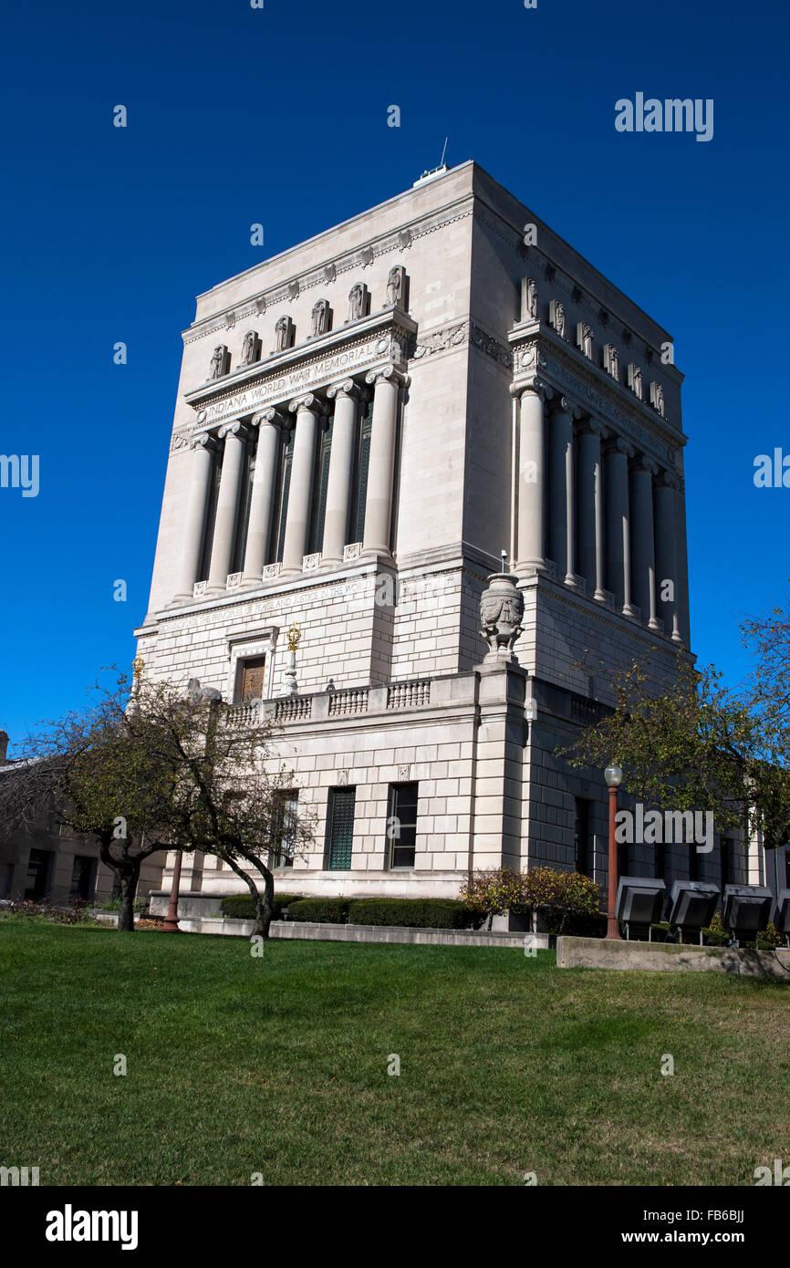 Indiana World War Memorial, Indianapolis, Indiana, United States of America - Stock Image