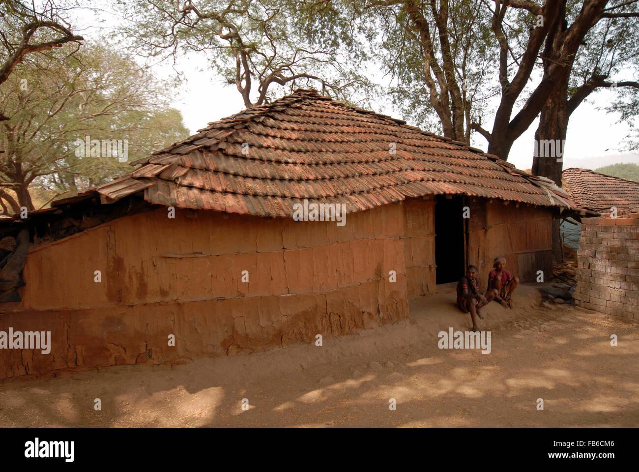 Warli houses raitali village dahanu maharashtra india stock warli houses raitali village dahanu maharashtra india altavistaventures Image collections