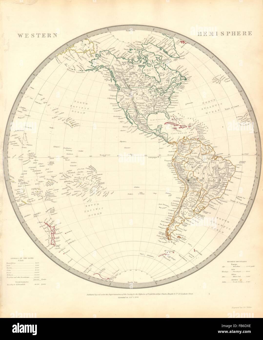 Western hemisphere the americas pacific ocean new zealand sduk western hemisphere the americas pacific ocean new zealand sduk 1848 map gumiabroncs Gallery