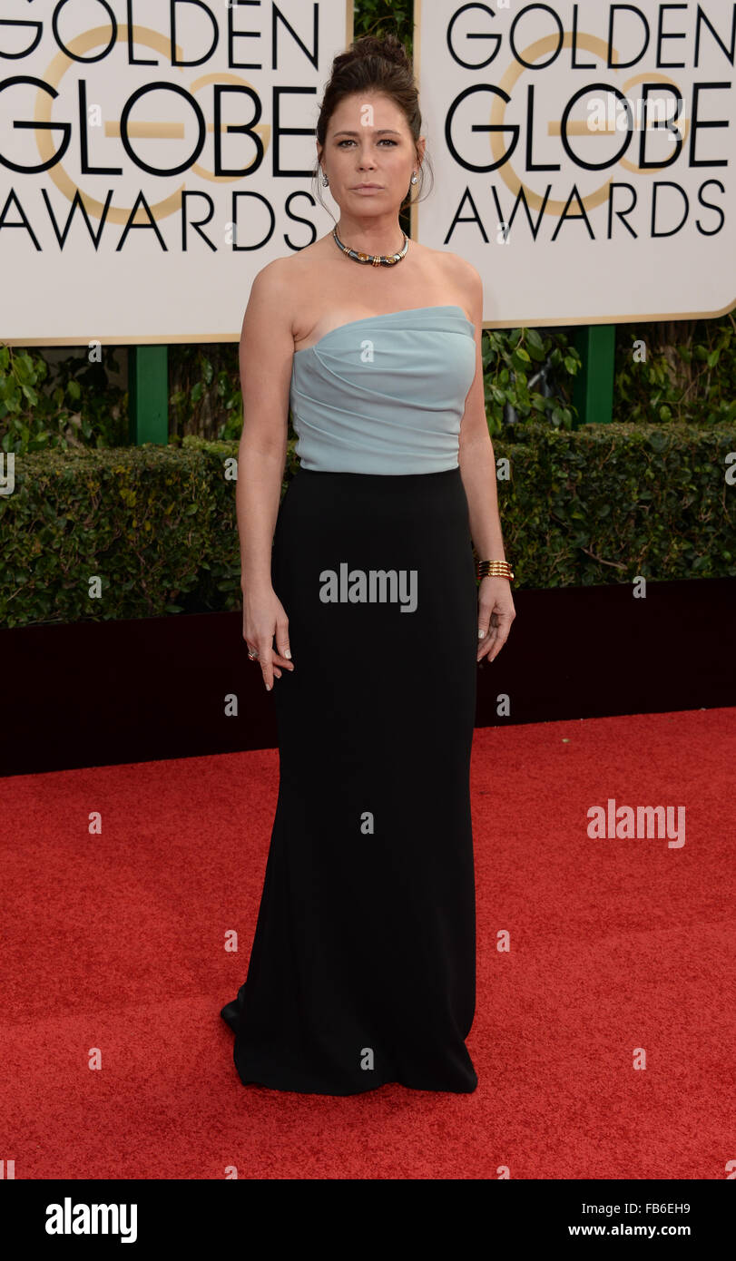 Los Angeles, California, USA. 10th January, 2016. Maura Tierney  arrives at the Golden Globes, Los Angeles, CA Credit: - Stock Image