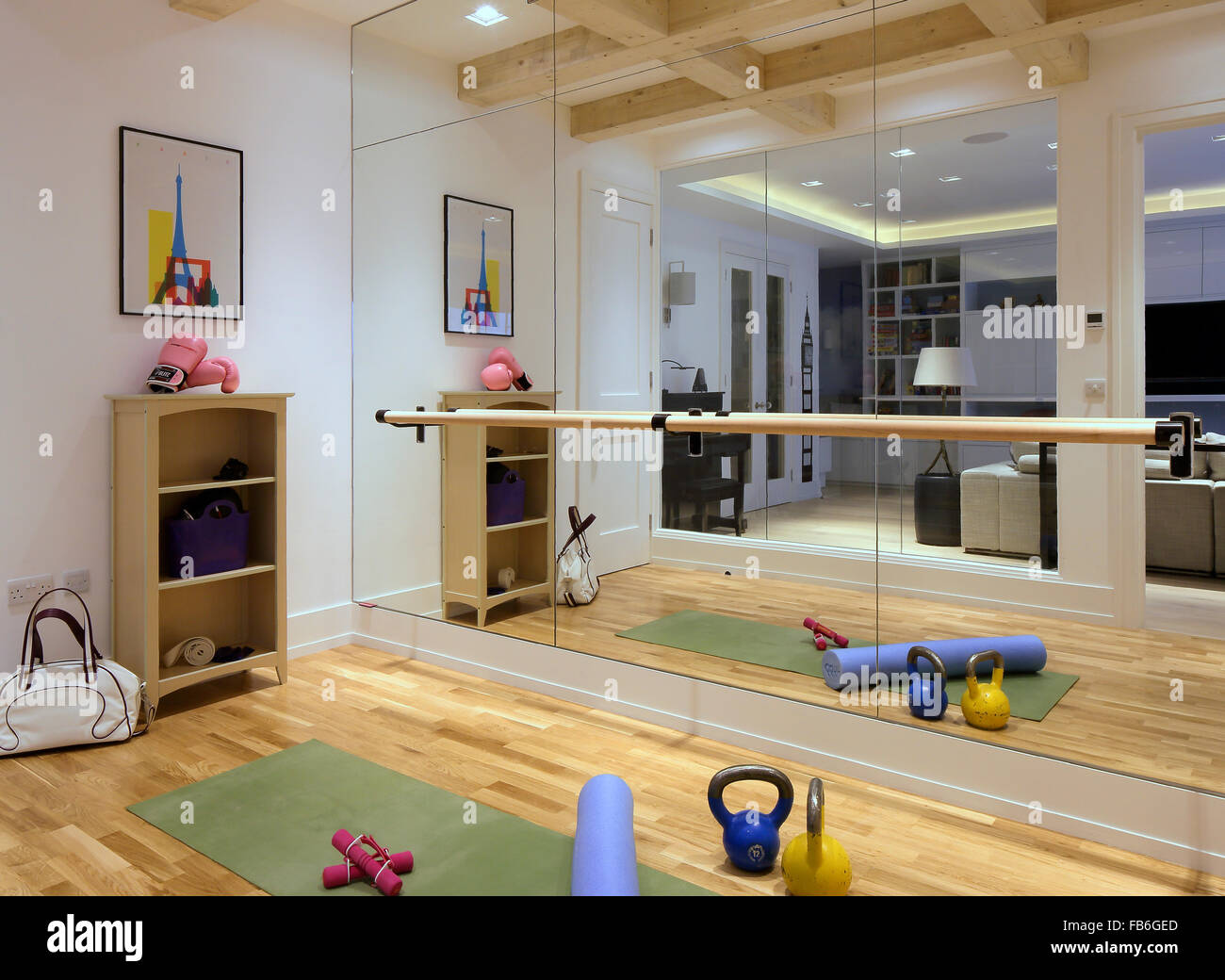 Home gym private home north london london united kingdom stock