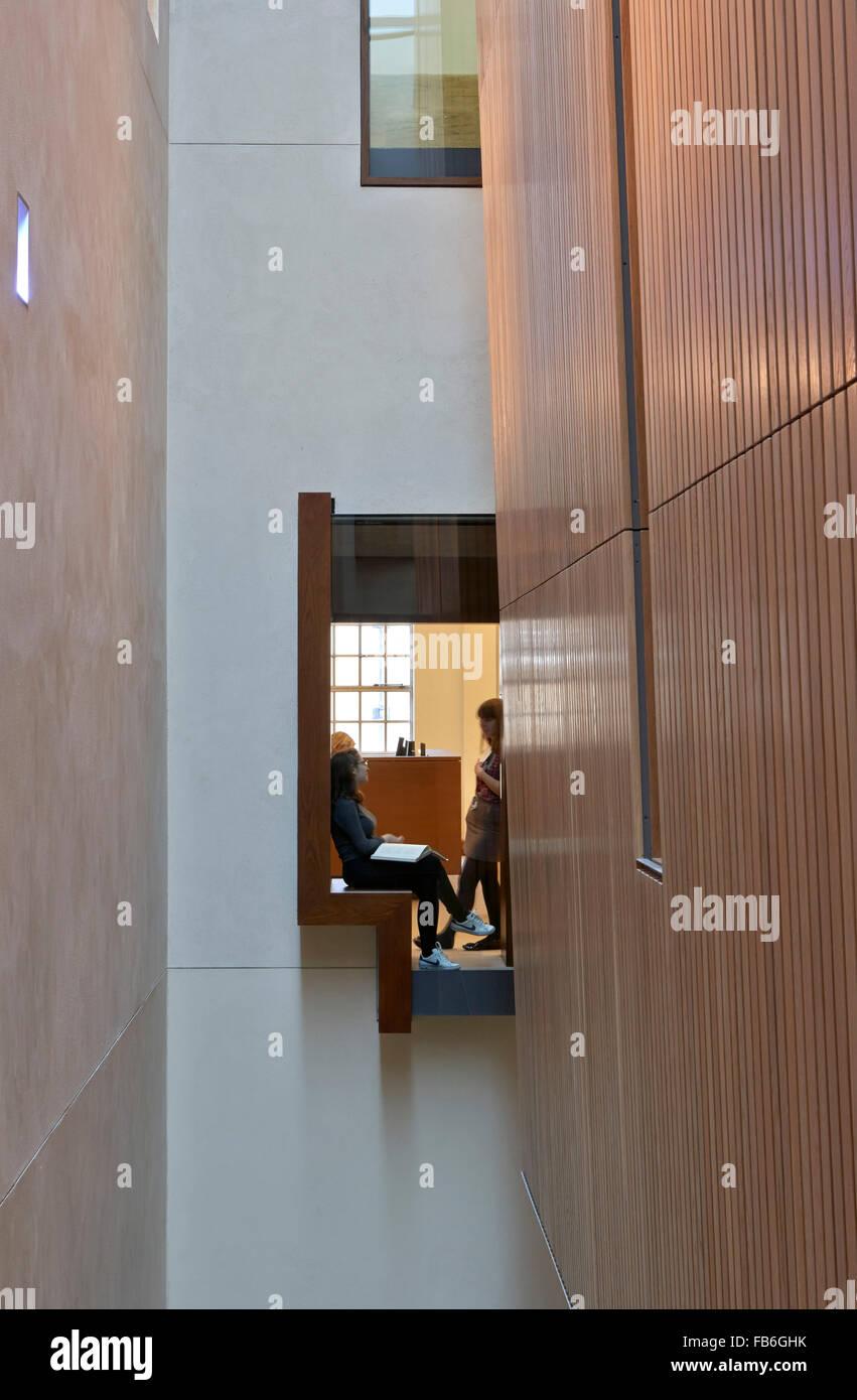 Floating window seat  Weston Library, Oxford, United Kingdom