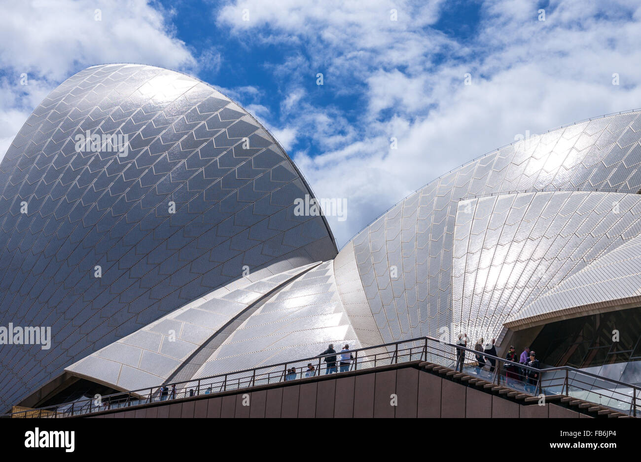 Australia, Sydney, architectural detail of the Opera House - Stock Image