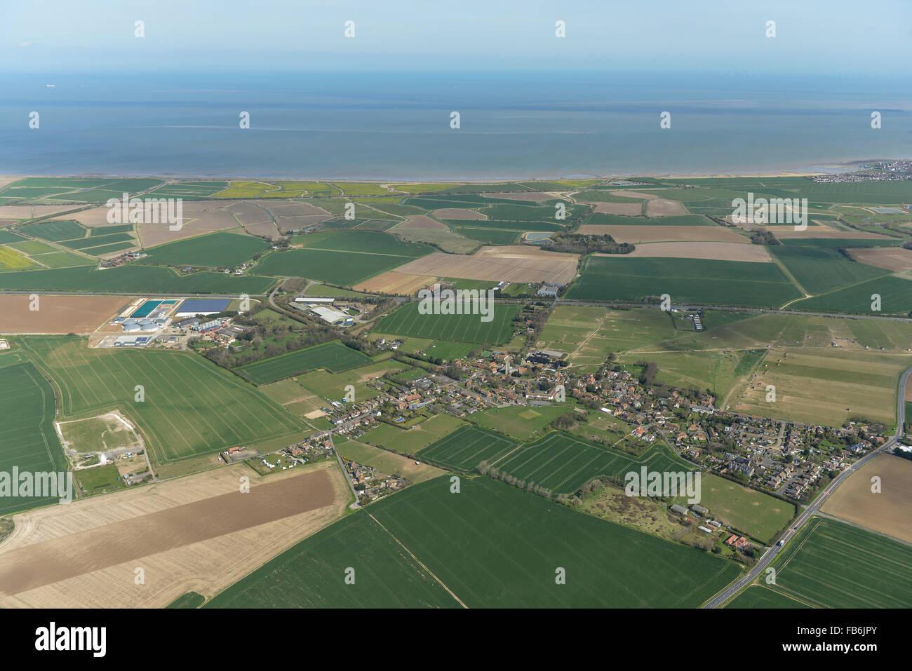 An aerial view of St Nicholas-at-Wade, Kent - Stock Image