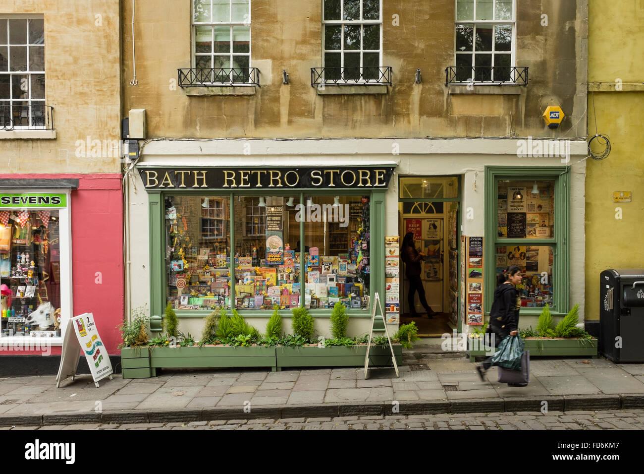 Bath Retro Store in Abbey Green, Bath, Somerset, UK Stock Photo ...