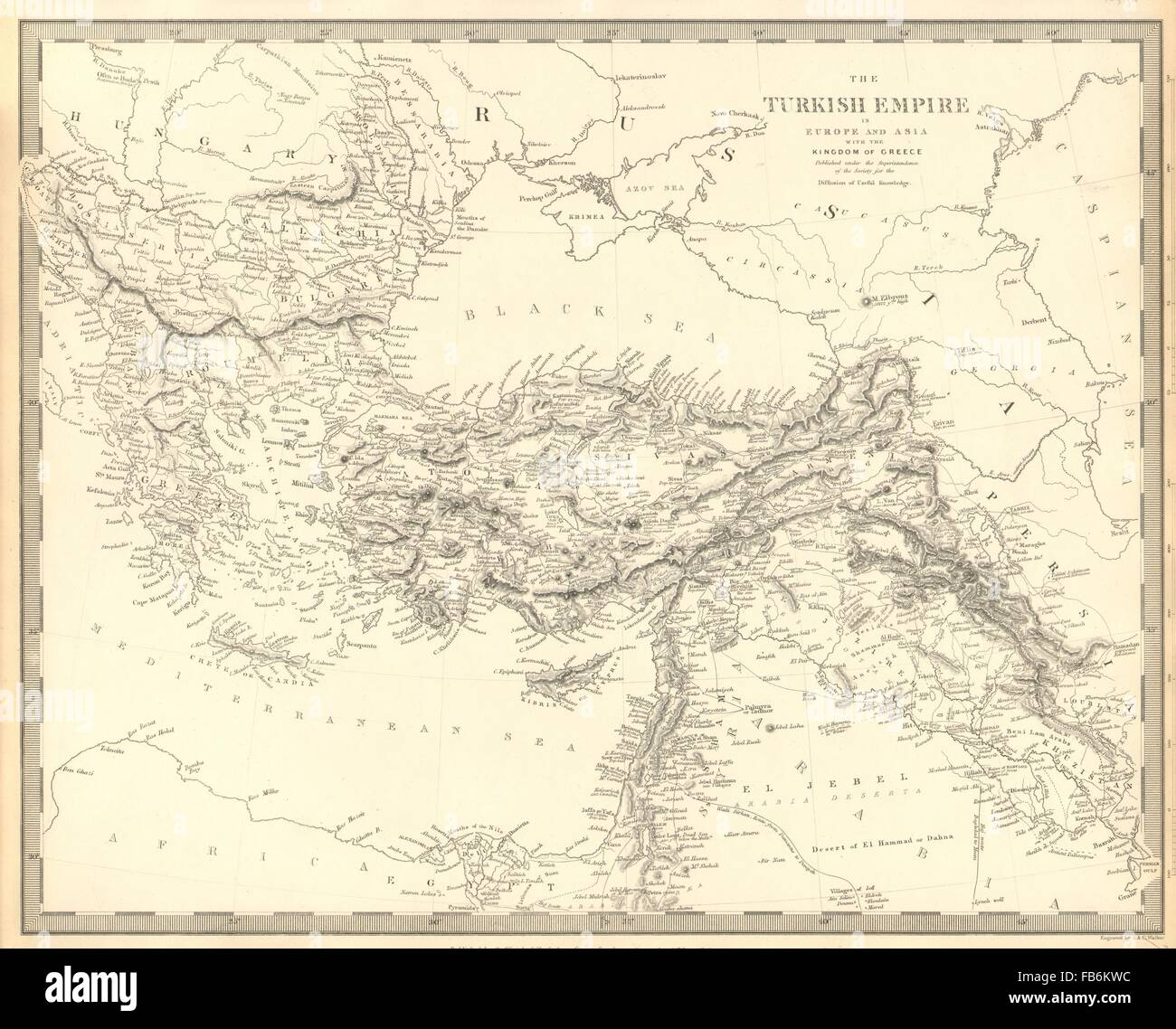 Ottoman Empire In Europe And Asia With The Kingdom Of Greece Sduk