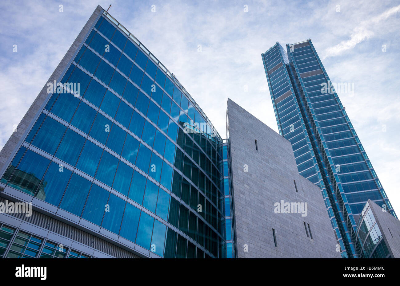 Italy, Milan, Porta Nuova, the Palazzo Lombardia Towers Stock Photo