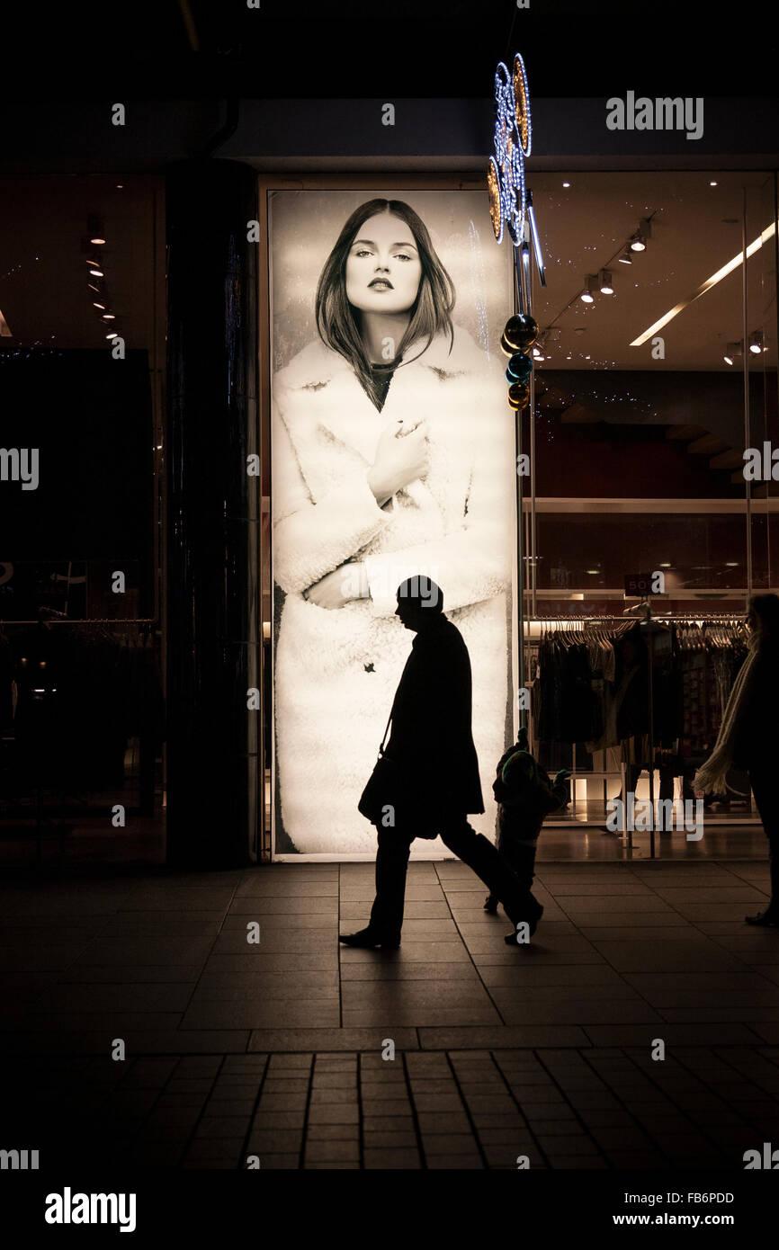 shopping in exeter city centre,Devon, economics, exeter cathedral, exeter cathedral green, exeter city, finance,princeshay,high - Stock Image