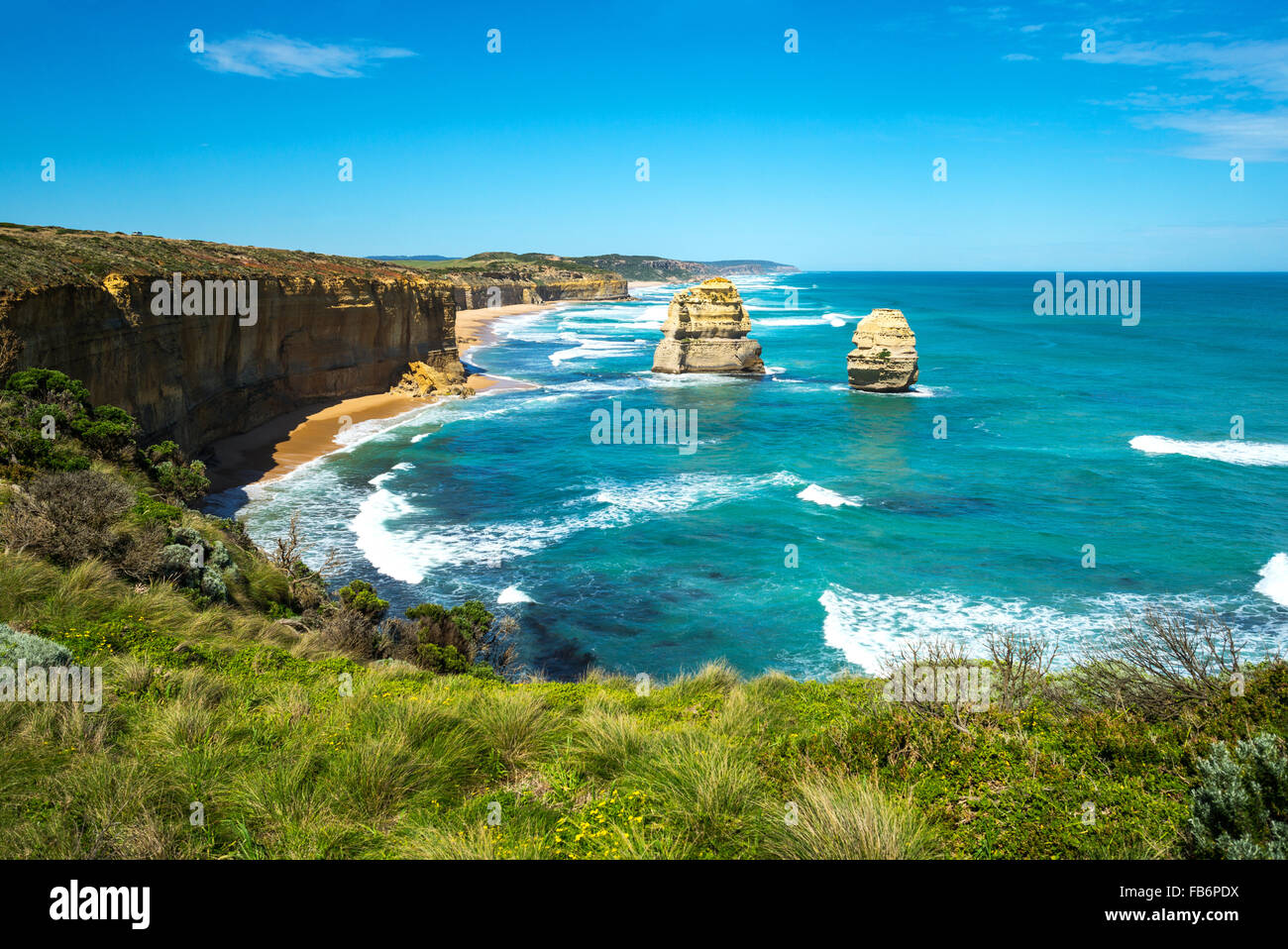 Australia, Port Campbell, the Twelve Apostles sea park - Stock Image