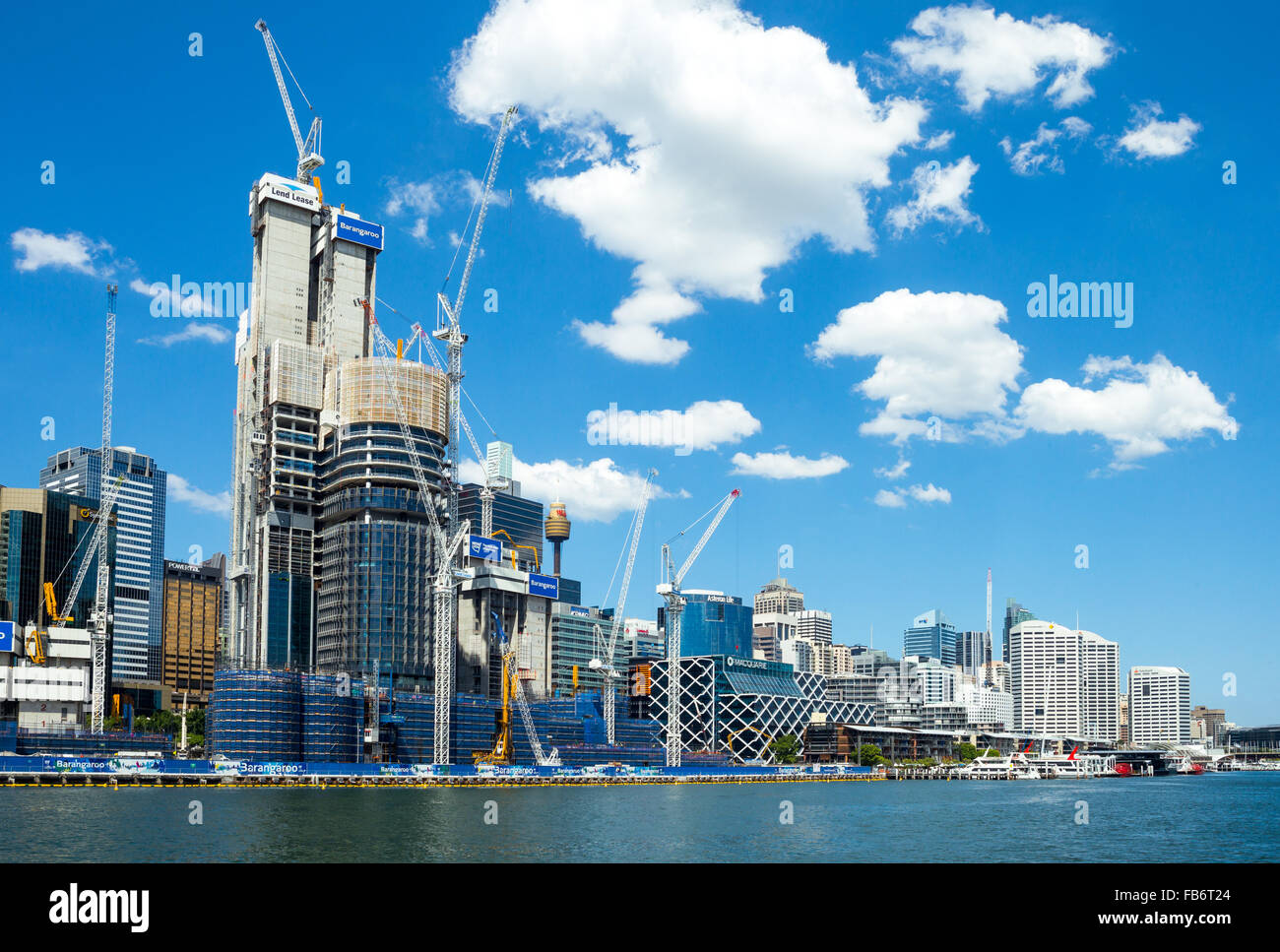Australia, Sydney, construction sites in Darlin Harbour Stock Photo