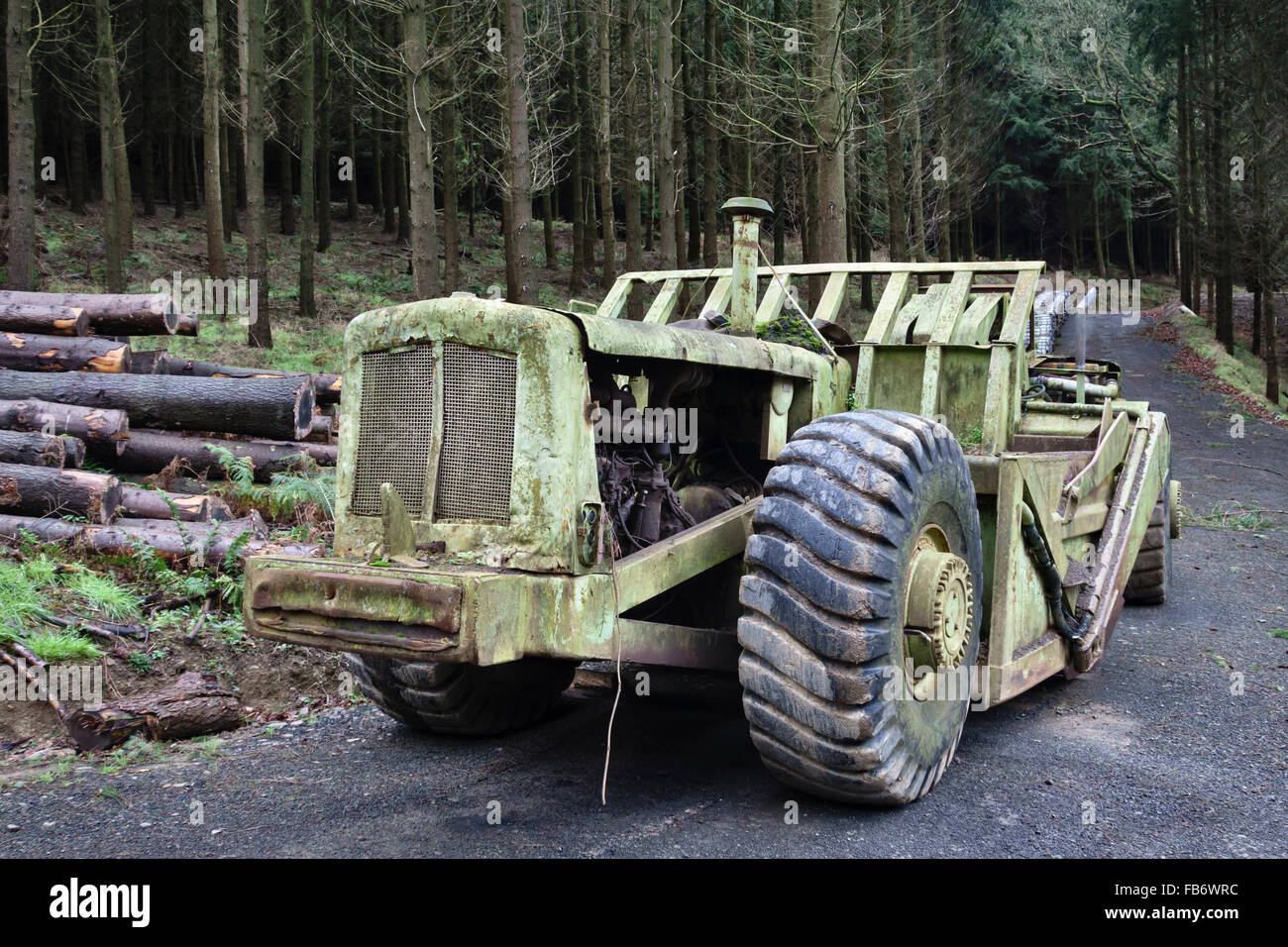 Herefordshire, UK  An old Terex TS-14b grader or scraper