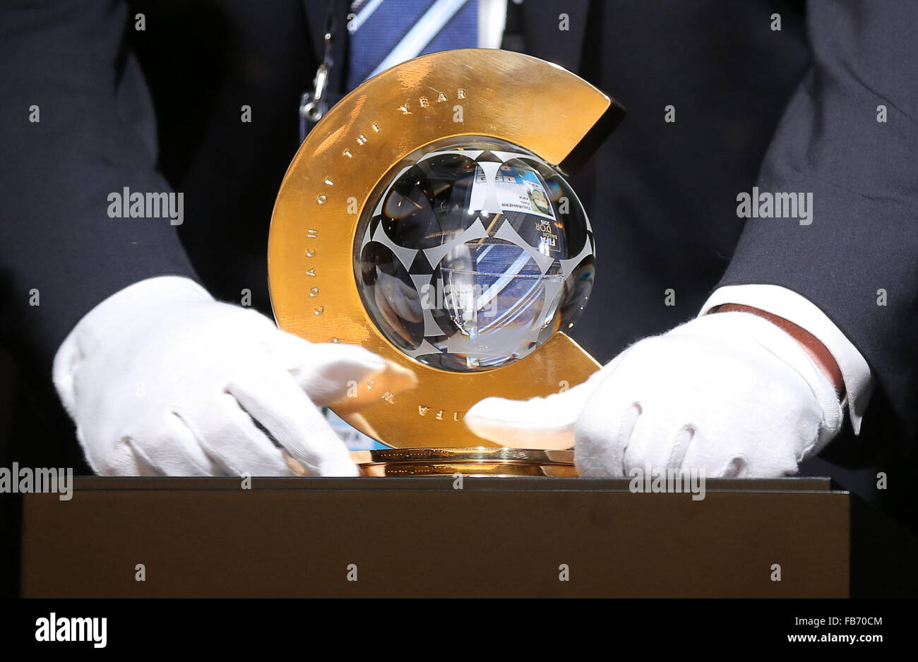 Zurich, Switzerland. 11th Jan, 2016. Trophaee  Pressekonferenz Nominees Coach of the Year Footballer of the Year Stock Photo