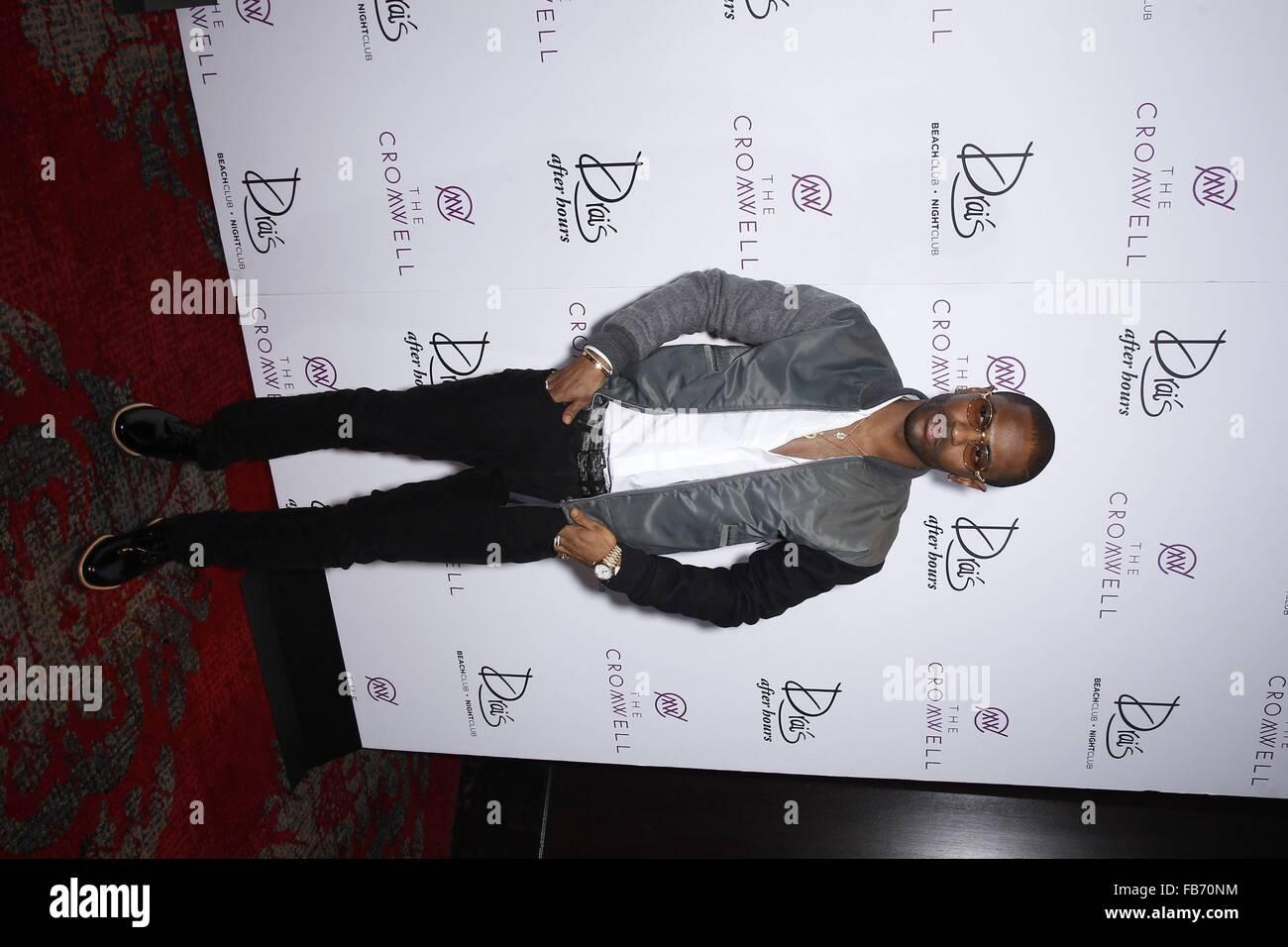 Las Vegas, NV, USA. 10th Jan, 2016. Big Sean at arrivals for Drai's LIVE Presents Big Sean at Drai's Nightclub Las Stock Photo