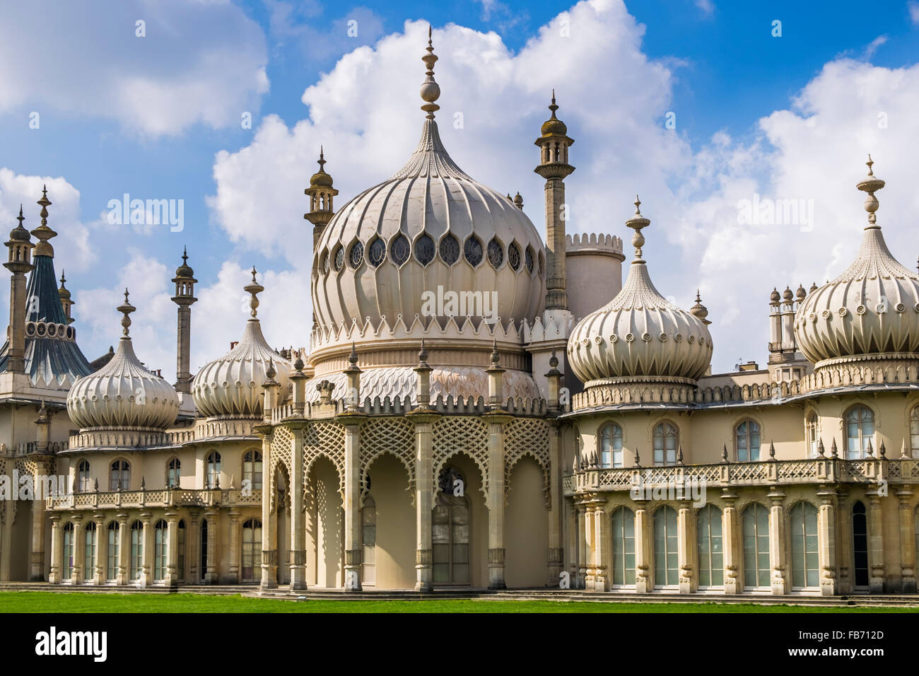 Brighton Pavilion, the coastal retreat of Prince George, the Prince Regent, in the 18th Century, Brighton and Hove, - Stock Image