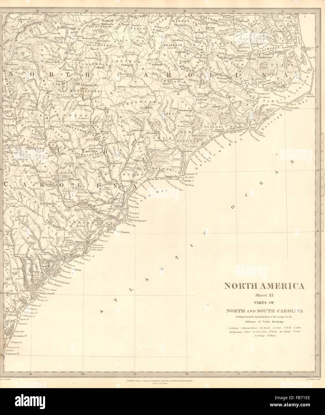 Usa Coastal North South Carolina Charleston Cape Hatteras Sduk