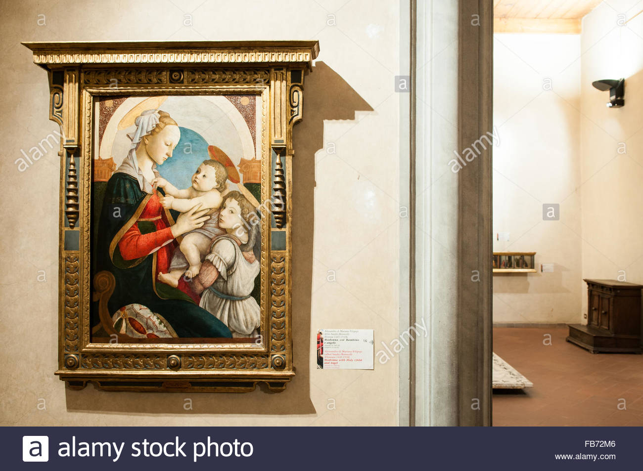 madonna with holy child and angel - Stock Image