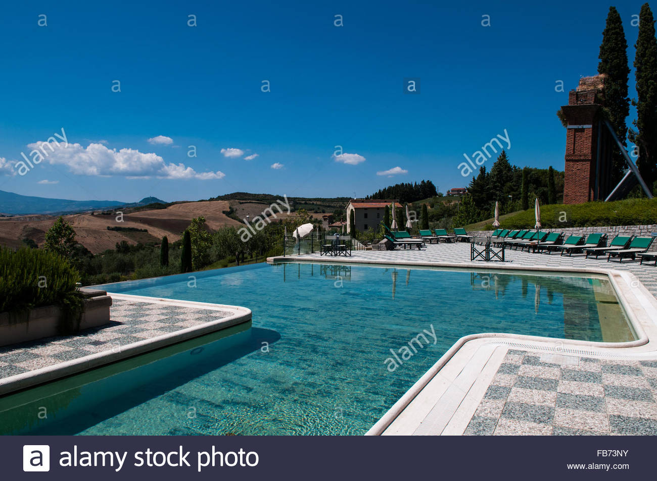 pool,fonteverde terme,san casciano dei bagni,italy Stock Photo ...