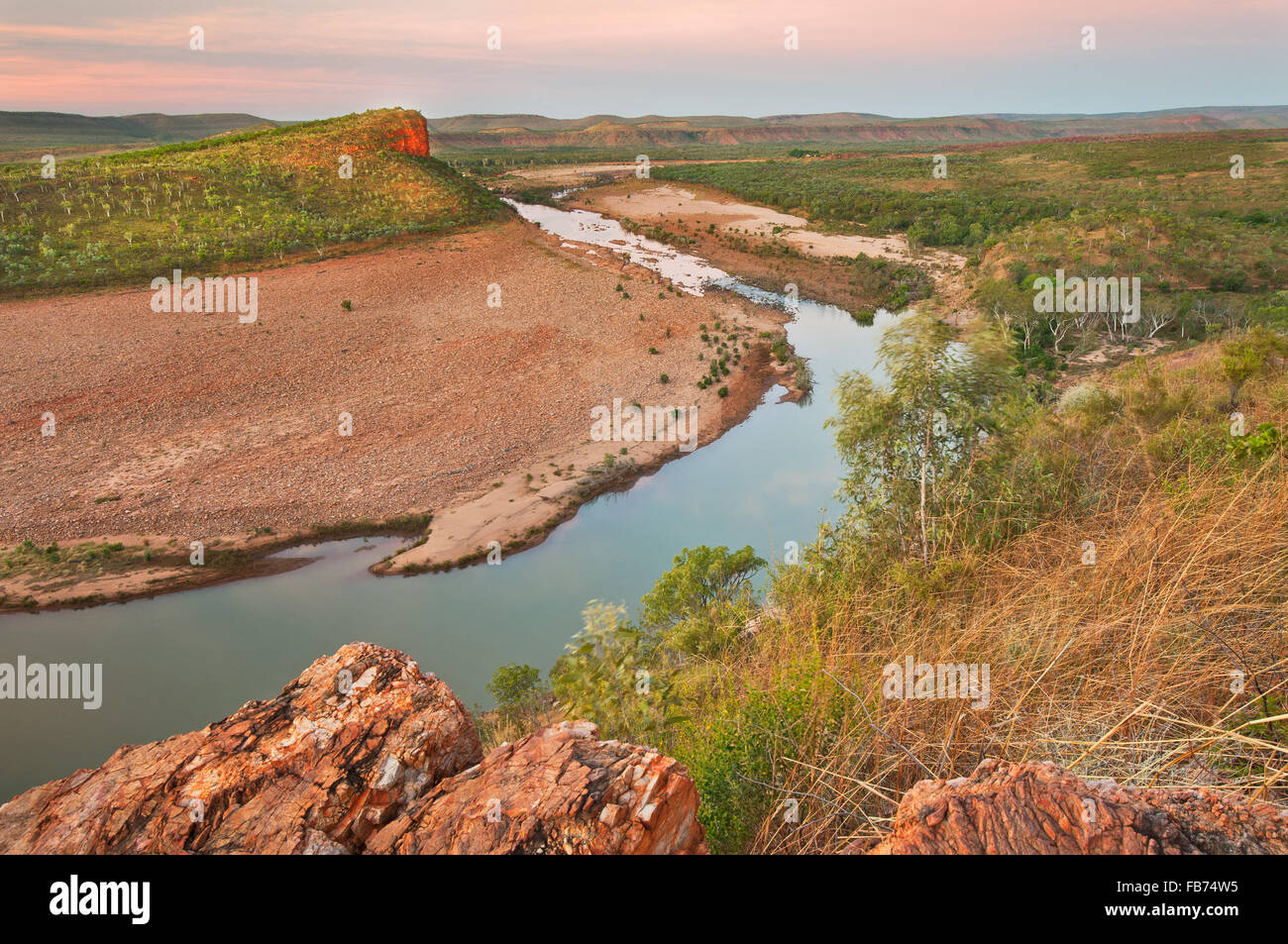 Fascinating landscape at Pentecost River in the Kimberley. - Stock Image