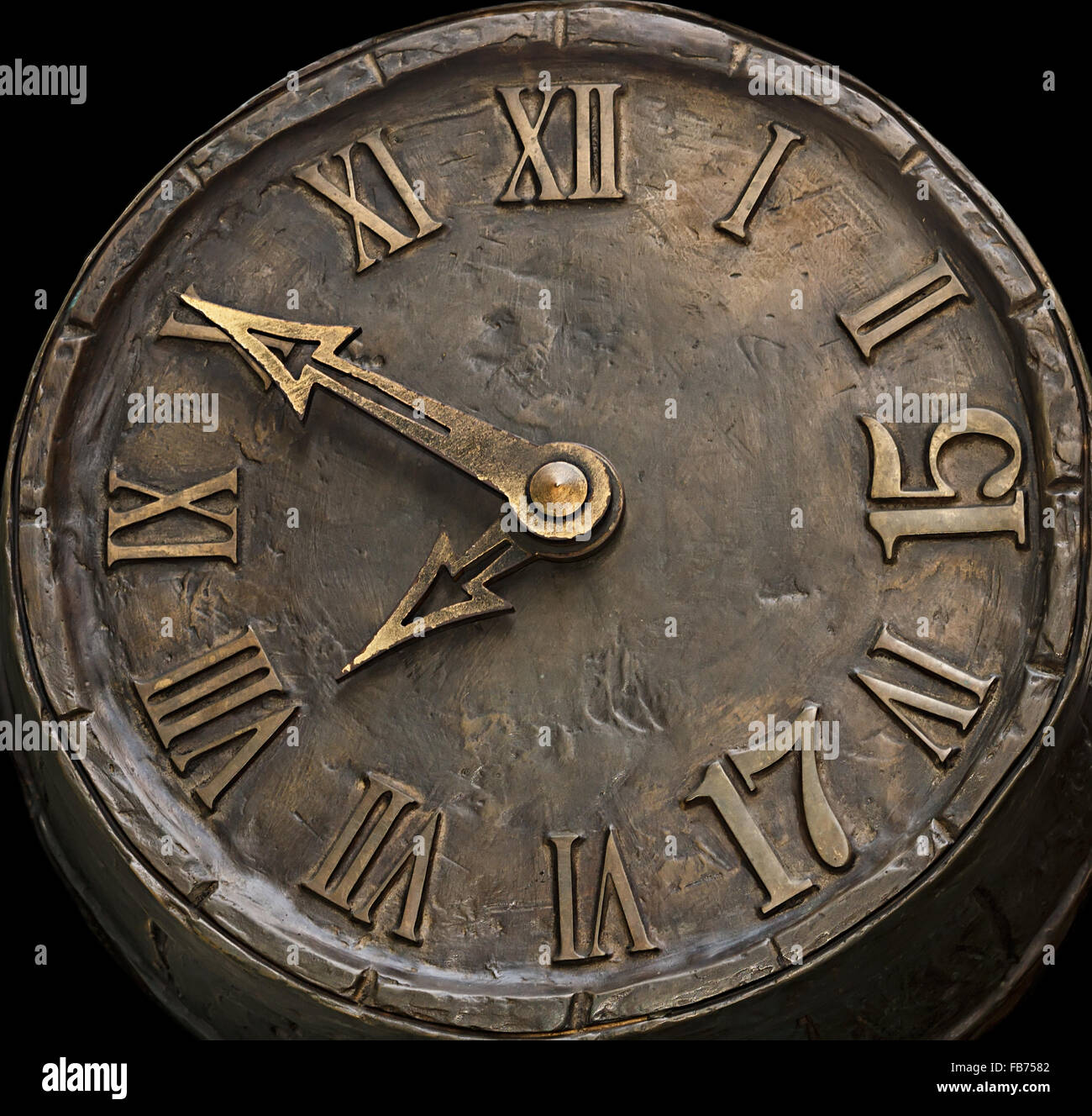 the dial hours from a stone - Stock Image