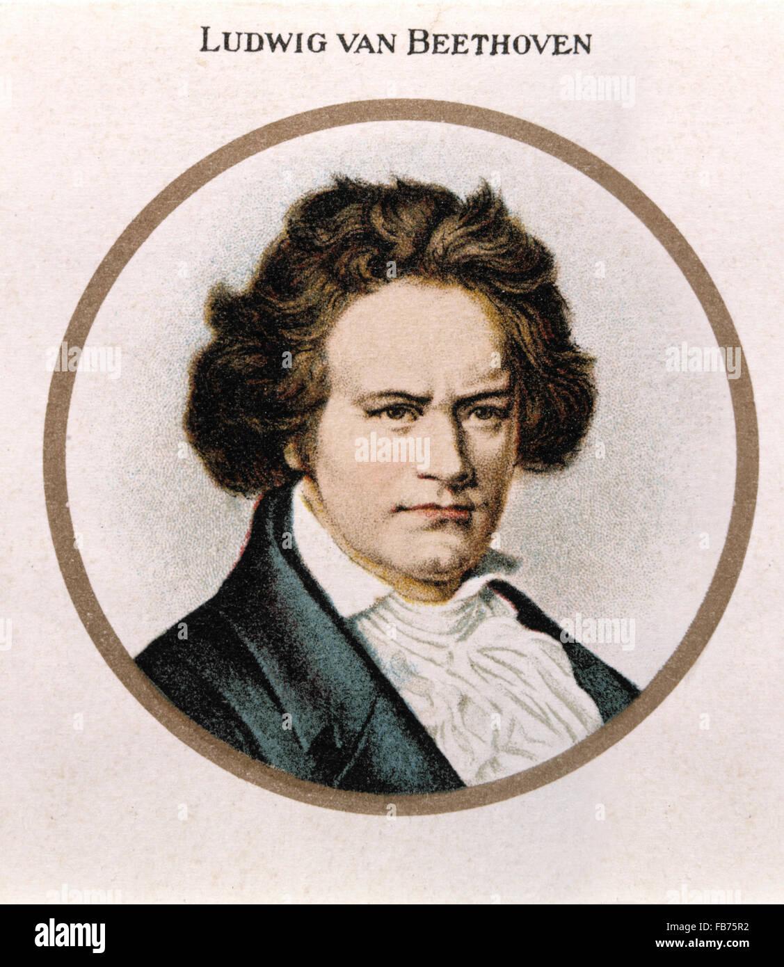Ludwig van Beethoven (1770-1827), German Composer - Stock Image