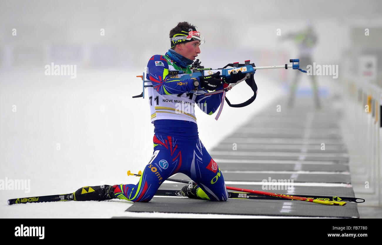 France's winner Fabien Claude competes in the men's 10