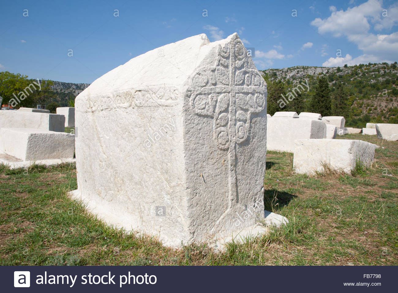 necropolis,Radimlja,Bosnia and Herzegovina,Europe - Stock Image