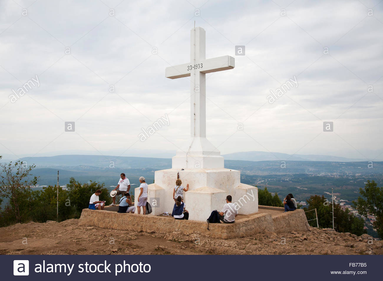 cross,the cross mountain,medugorje,bosnia and herzegovina - Stock Image